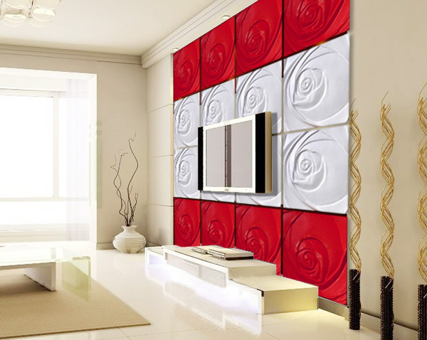 欧式床头吸塑背景墙板图片